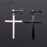 Cercei Barbati  baieti cercei fete cruce simpla atarnata