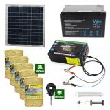 Gard electric cu Panou solar 3,1J putere cu 5000m Fir 160Kg cu acumulator 12Ah
