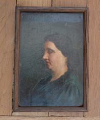 Portret de femeie veche pictura ulei foto