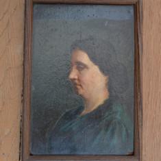 Portret de femeie veche pictura ulei, Portrete, Realism