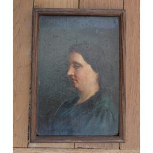 Portret de femeie veche pictura ulei