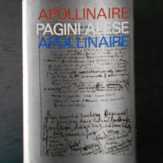 GUILLAUME APOLLINAIRE - PAGINI ALESE (1971)