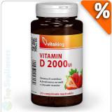 Cumpara ieftin Vitamina D-2000 masticabila 210tab. (imunitate, oase, muschi) Vitaking