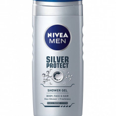 Nivea Gel de dus Barbati 500 ml Silver Protect