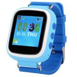 Ceas Smartwatch cu GPS Copii iUni Kid90, Telefon incorporat, Buton SOS, Bluetooth, LCD 1.44 Inch, Albastru
