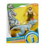 Imaginext Jurassic World dinozaur Allosaurus & figurina Ranger 15 cm, Mattel