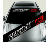 Sticker parasolar auto Greddy Mazda