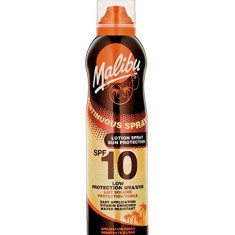 Lotiune Spray MALIBU Continuous Spray Rezistenta la apa UVA UVB SPF10 175 ml