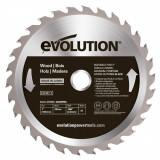 Cumpara ieftin Disc pentru fierastrau circular, taiere lemn Evolution EVO180WD-0446, O180x20 mm, 30 dinti