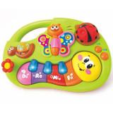 Mini Orga de Jucarie Interactiva Bebe - Smiley Hola, muzica si sunete, 6m+