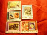 Serie mica - Ras Al Khaima - Expo '70 Osaka - Flori , 5 val. stampilate, Stampilat