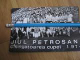 Carte postala Jiul Petrosani castigatoarea Cupei Romaniei 1974