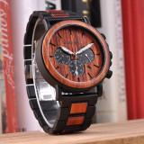 Ceas din lemn Bobo Bird cu curea din lemn, P09-3