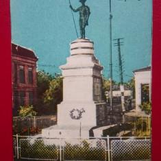 Tecuci Statuia cercetasului Giata Virgiliu, Circulata, Printata, Galati