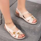 Sandale dama cu talpa ortopedica bej Melera
