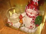 Ornament Suport lumanare Om de zapada Craciun cu suport lumanare, PRC