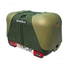 Cumpara ieftin Cutie portbagaj pe carligul de remorcare Towbox V2 Verde
