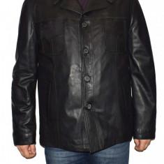 Haina barbati, din piele naturala, marca Kurban, 339N-01-95, negru