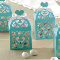 Cutie carton Favour Box Aquamarine 6.3 x 6.3 x 6.3 cm