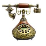 Telefon fix cu afisaj electronic design retro