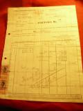 Factura cu Antet Uzinele Metalurgice Basarab 1943 Bucuresti cu 2 Timbre Fiscale