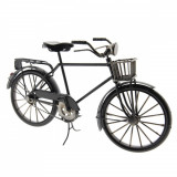 Macheta Bicicleta Retro din metal negru 29 cm x 10 cm x 16 h, Clayre & Eef