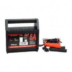 Incarcator pentru baterii auto THR URZ0370, 12V, 6A, protectie termica si la scurtcircuit