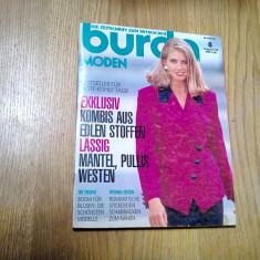 BURDA - Revista de Moda August 1992 - contine 146 p.+ tipare; limba germana