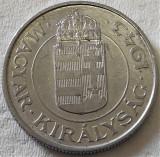 Moneda istorica 2 PENGO - UNGARIA, anul 1943  *cod 447