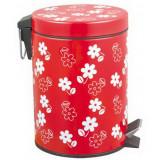 Cos gunoi cu pedala, Flower, 12L rosu, MN018591