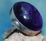 inel argint 925 antic cu ametist mare natural!!