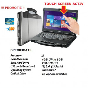 Panasonic CF53 Laptop Militar Toughbook I5 Cf-53 Touchscreen ideal Diagnoza Auto