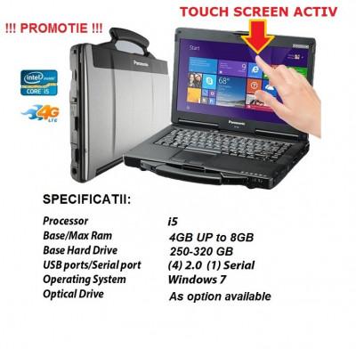 Panasonic CF53 Laptop Militar Toughbook I5 Cf-53 Touchscreen ideal Diagnoza Auto foto