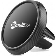 Suport Auto Universal Magnetic pentru Ventilatie (Negru) MultiLine