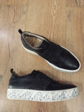LICHIDARE STOC! Superbi pantofi-espadrile dama noi piele naturala comozi 37