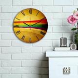 Ceas decorativ de perete din lemn Home Art, 238HMA6114, 30 cm, Multicolor