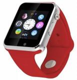 Cumpara ieftin Smartwatch cu Telefon iUni A100i, BT, LCD 1.54 Inch, Camera, Rosu