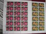 SAO-TOME SI PRINCIPE- 1984-Minicoala 18 serii dantelate-flori, Nestampilat
