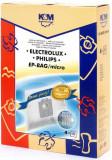 Sac aspirator Electrolux-Philips Universal (S-Bag), sintetic, 4x saci, KM, K&m