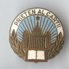 Insigna VECHE RPR - Prieten al cartii - Pionieri