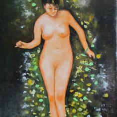 Tablou / Pictura nud dupa Nicolae Grigorescu semnat Cimpoesu.
