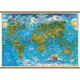 Harta lumii pentru copii 1000x700 mm, cu sipci (GHLCP100)