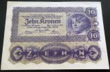 Bancnota ISTORICA 10 COROANE - AUSTRO-UNGARIA (AUSTRIA), anul 1922   *cod 620 D
