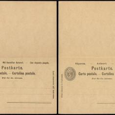 Switzerland - Postal History Rare Old Postal stationery + Reply UNUSED DB.121