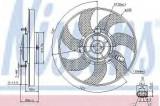 Ventilator, radiator AUDI A3 Cabriolet (8P7) (2008 - 2013) NISSENS 85733