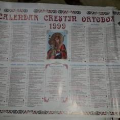 Calendar religios veche Colectie,Calendar crestin ortodox de perete 1999,T.GRAT