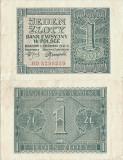 1941 (1 VIII), 1 Złoty (P-99b) - Polonia