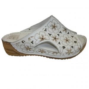 Papuc femei, confortabil cu imprimeu floral si platforma