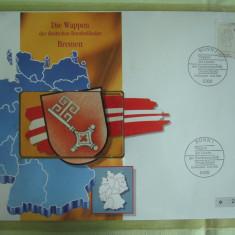Cartela Telefonica + FDC Germania Bremen - Exponat Numerotat