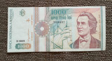 1000 lei 1991, serie fără punct, România, XF